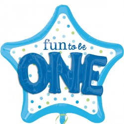 FUN TO BE O-N-E BOY MULTI-BALLOON P75 PKT