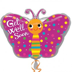 GET WELL BUTTERFLY JUNIOR SHAPE S40 PKT