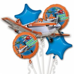 PLANES 5 BALLOON BOUQUET P75 PKT (3CT)