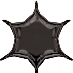 BLACK 6 POINT STAR D32 FLAT (3CT)
