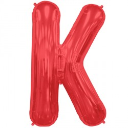 "RED LETTER K SHAPE 34"" PKT"