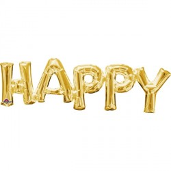 HAPPY GOLD PHRASE SHAPE P35 PKT
