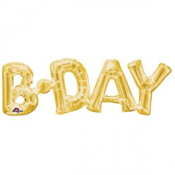 B.DAY GOLD PHRASE SHAPE P35 PKT
