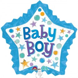 BABY BOY STAR WITH RUFFLE SHAPE P35 PKT