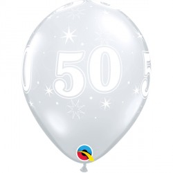 "50 SPARKLE-A-ROUND 11"" DIAMOND CLEAR (25CT)"