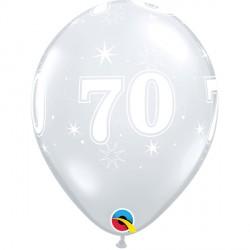"70 SPARKLE-A-ROUND 11"" DIAMOND CLEAR (25CT)"