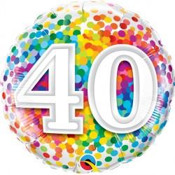 "40 RAINBOW CONFETTI 18"" PKT"