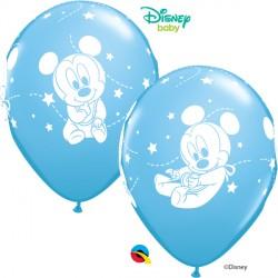 "BABY MICKEY STARS 12"" PALE BLUE (6X6CT)"