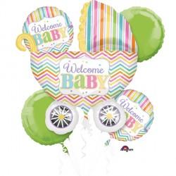 BABY BRIGHTS 5 BALLOON BOUQUET P75 PKT (3CT)
