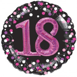 SPARKLING CELEBRATION PINK 18 MULTI BALLOON SHAPE P75 PKT