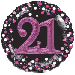SPARKLING CELEBRATION PINK 21 MULTI BALLOON SHAPE P75 PKT