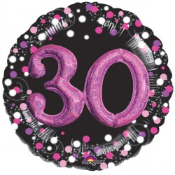 SPARKLING CELEBRATION PINK 30 MULTI BALLOON SHAPE P75 PKT