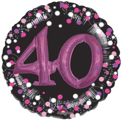 SPARKLING CELEBRATION PINK 40 MULTI BALLOON SHAPE P75 PKT