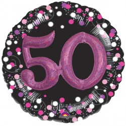 SPARKLING CELEBRATION PINK 50 MULTI BALLOON SHAPE P75 PKT