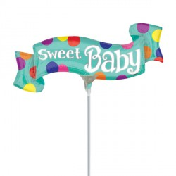 SWEET BABY BANNER MINI SHAPE A30 INFLATED WITH CUP & STICK