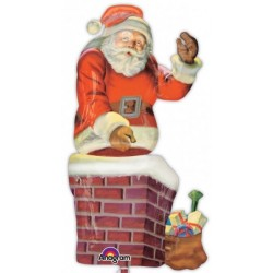 SANTA & CHIMNEY MULTI SHAPE P70 PKT