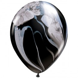 "BLACK & WHITE 11"" SUPERAGATE (25CT)"