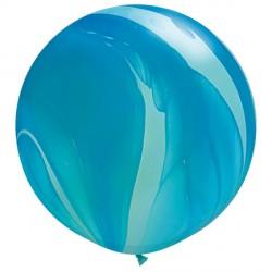 "BLUE RAINBOW 30"" SUPERAGATE (2CT)"