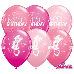 """MINNIE MOUSE BIRTHDAY 11"""" WILD BERRY, ROSE & PINK (25CT)"""