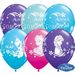 """FROZEN ANNA, ELSA & OLAF 11"""" WILD BERRY, CARIBBEAN BLUE, PURPLE VIOLET & ROBIN'S EGG BLUE (25CT) LBC"""