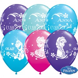 "FROZEN ANNA, ELSA & OLAF 11"" WILD BERRY, CARIBBEAN BLUE, PURPLE VIOLET & ROBIN'S EGG BLUE (25CT)"