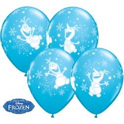 "FROZEN OLAF DANCING 11"" ROBIN'S EGG BLUE (25CT) LBC"