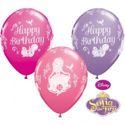 "SOFIA THE FIRST BIRTHDAY 11"" WILD BERRY, PINK & SPRING LILAC (25CT)"