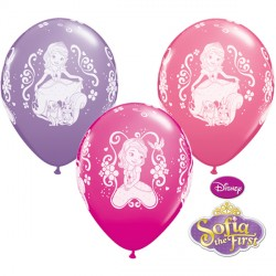 "SOFIA THE FIRST 11"" WILD BERRY, PINK & SPRING LILAC (25CT)"