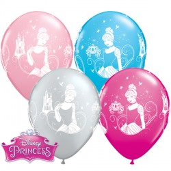 "DISNEY PRINCESS CINDERELLA 11"" WILD BERRY, PINK, ROBIN'S EGG BLUE & SILVER (25CT)"