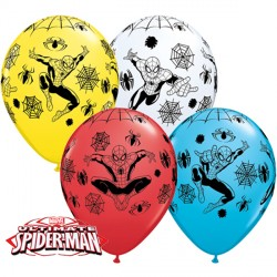 "SPIDER-MAN ULTIMATE 11"" WHITE, YELLOW, RED & ROBIN'S EGG BLUE (25CT)"