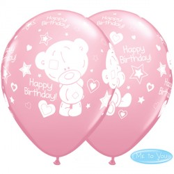"ME TO YOU TINY TATTY TEDDY BIRTHDAY 11"" PINK (25CT)"