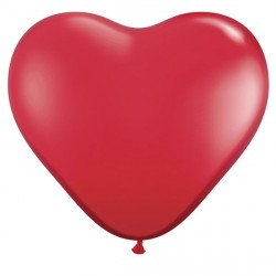 """RUBY RED HEART 6"""" JEWEL (100CT) PZ"""