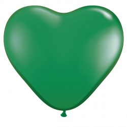 "GREEN HEART 6"" STANDARD (100CT)"