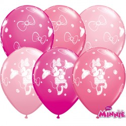 "MINNIE MOUSE 11"" WILD BERRY, ROSE & PINK (25CT)"