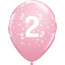 """STARS 2-A-ROUND 11"""" PINK (6X6CT)"""