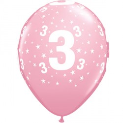 """STARS 3-A-ROUND 11"""" PINK (6X6CT)"""