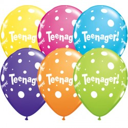 "TEENAGER! 11"" TROPICAL ASSORTED (25CT)"