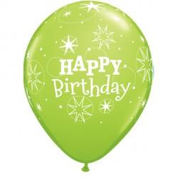 "SPARKLE BIRTHDAY 11"" LIME GREEN (25CT)"