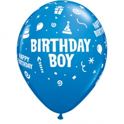 "BIRTHDAY BOY 11"" DARK BLUE (6X6CT)"