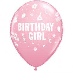 "BIRTHDAY GIRL 11"" PINK (6X6CT)"