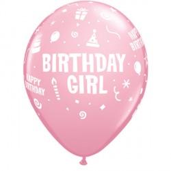 "BIRTHDAY GIRL 11"" PINK (6X6CT)"