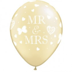 "MR. & MRS. 11"" PEARL IVORY (25CT)"