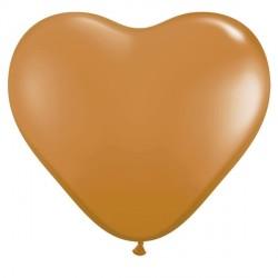 "MOCHA BROWN HEART 6"" FASHION (100CT)"