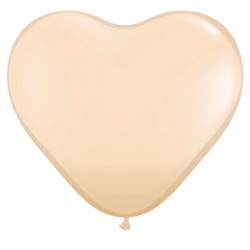 "BLUSH HEART 6"" FASHION (100CT)"