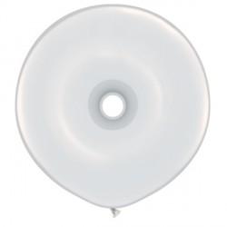 "WHITE GEO DONUT 16"" STANDARD (25CT)"