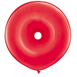 "RED GEO DONUT 16"" STANDARD (25CT)"