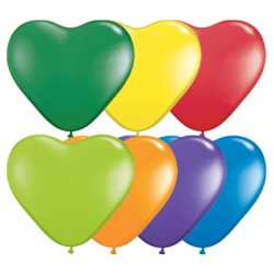 "CARNIVAL ASSORTMENT HEART 6"" (100CT)"