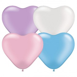 "PEARL ASSORTMENT HEART 6"" (100CT)"