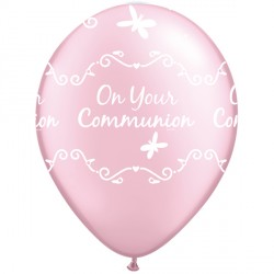 "COMMUNION BUTTERFLIES 11"" PEARL PINK (25CT)"