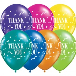 "THANK YOU CONFETTI 11"" FANTASY ASSORTED (25CT)"